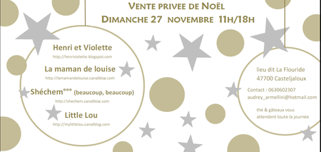 vente de Noël 2011 (invitation)