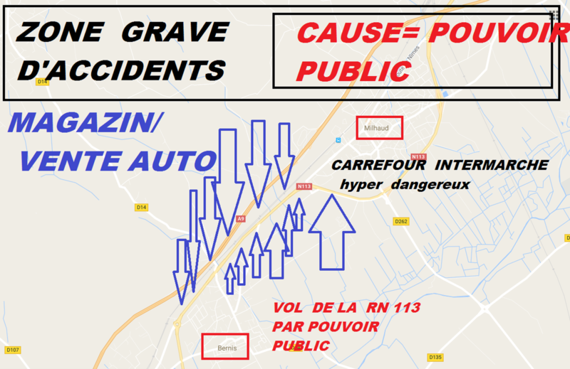 zone d'accidents (cause des élus )