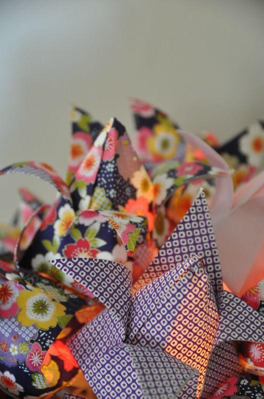 bouquet de fleurs de lotus guirlandes origami. Black Bedroom Furniture Sets. Home Design Ideas