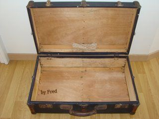 Oh une vieille valise tricots and c - Valise en bois ancienne ...