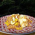 Wok de poulet au quinoa et au maïs ( sans gluten )