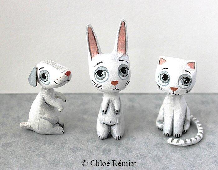 3 minis animaux blancs 4 juillet 2016