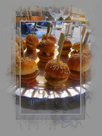 Hamburger apéritif foie gras