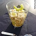 Verrine concombre poire féta pistaches