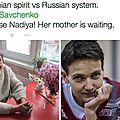 Centième jour de grève de la faim de nadia savtchenko