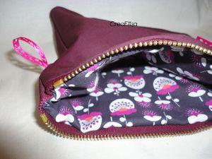 Grande pochette violet intérieur