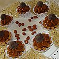 Mini tarte choco-noix et caramel