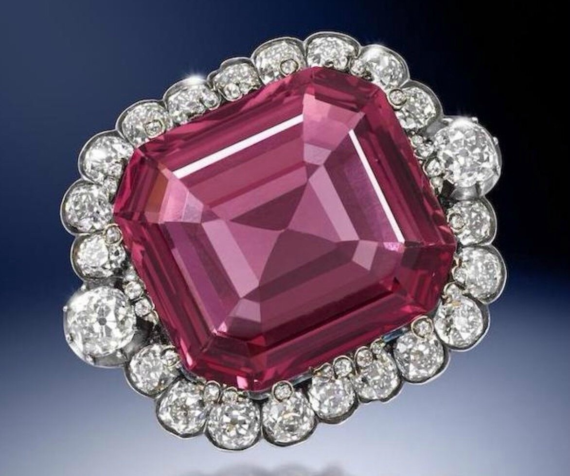 The Hope Spinel. An exceptional 19th century spinel and diamond jewel