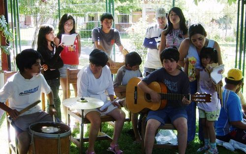 En el Pequeño Cottolengo de Rancagua para cantar los villancicos