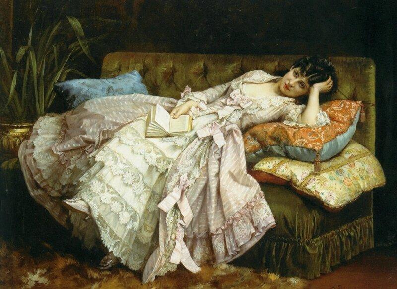 Toulmouche_Auguste_Dolce_Far_Niiente_1877_Oil_on_Canvas-large