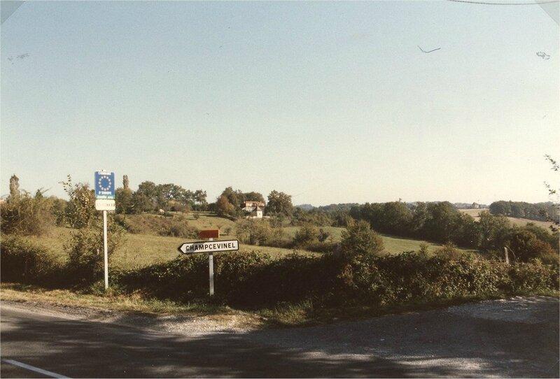 Départ de la route Sud de la commune