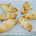Mini croissants citron-amandes