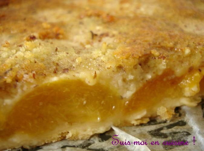 Tarte aux abricots et à la crème de noisette