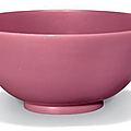An opaque pink glass bowl, late 18th century