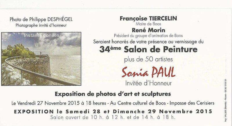 invitations Boos 26, 27 & 28 novembre 2015