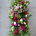 Dessus de cercueil Lys, Rose & Tulipe