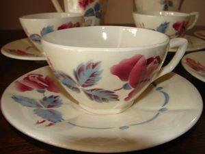 Tasse à café et sa sous-tasse Boulogne Digoin