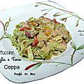 Fettuccine «paglia e fieno» aux fruits de mer et coppa, balade au col de turini