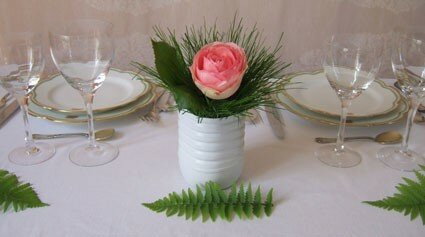 Des bouquets sans vase pour vos tables de r ception la - Petit bouquet de table ...