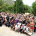 Les bénévoles, les comédiens, les vignerons de Saint-Joseph et l