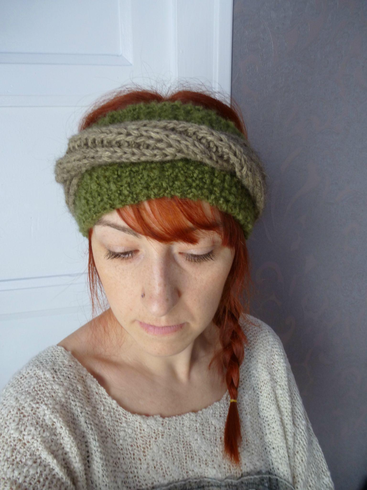 Bandeau hippie green .