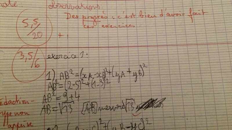 Devoir de maths