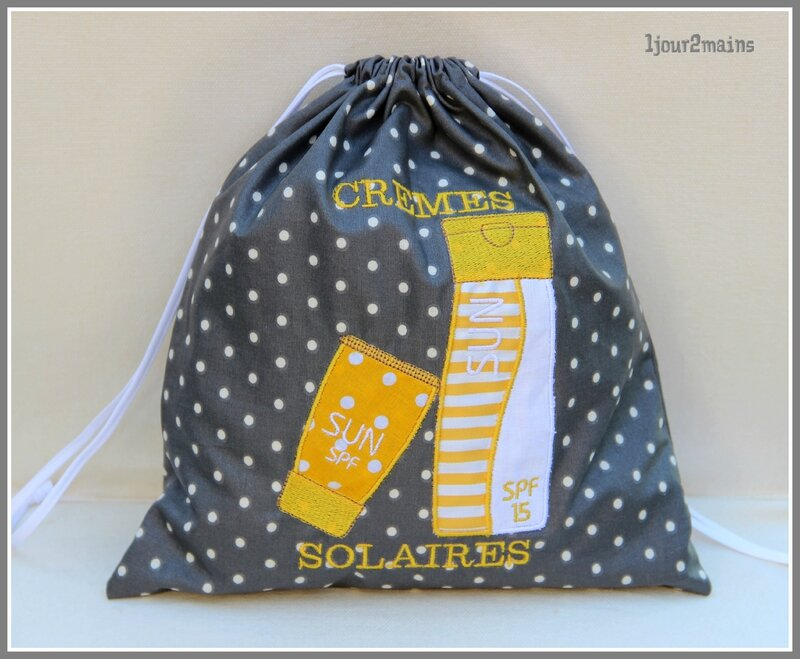 sac cremes solaires