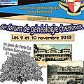 Forum genealogie - paris 2012