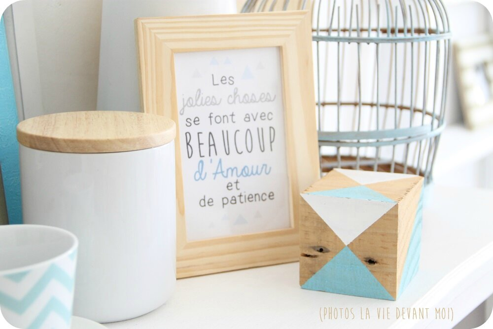 la d co de mon t diy et ciel bleu la vie devant moi. Black Bedroom Furniture Sets. Home Design Ideas