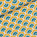 Soft Cactus Fabric- Seashore Shelly - Yellow