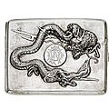 An early 20th century chinese export silver cigarette case, by wing on & co, hong kong
