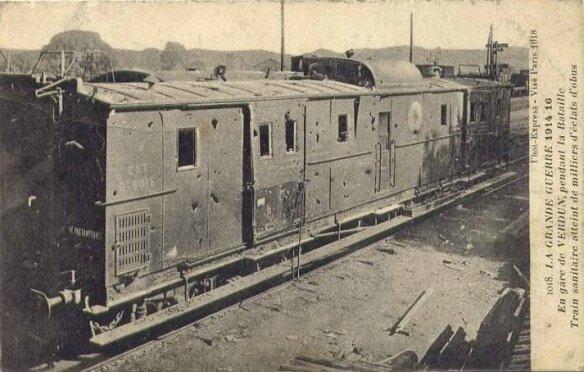 train pendant la bataille de Verdun
