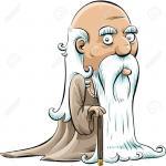 29717208-Un-homme-de-dessin-anim-vieux-sage-avec-une-canne-et-une-longue-barbe-blanche--Banque-d'images
