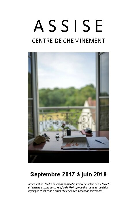 Centre Assise, programme 2017-2018