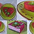 Entremets aux fruits rouges pistaches