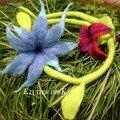 Fleur liane bleu-rouge 2