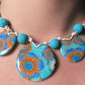 collier turquoise-orange
