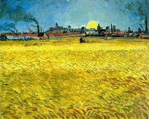 Champ de blé en Arles