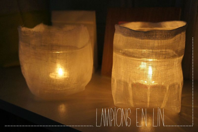 diy les lampions en lin ernest est c leste. Black Bedroom Furniture Sets. Home Design Ideas