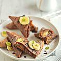 Samossas de crêpes {chocolat & banane} #chandeleur vegan