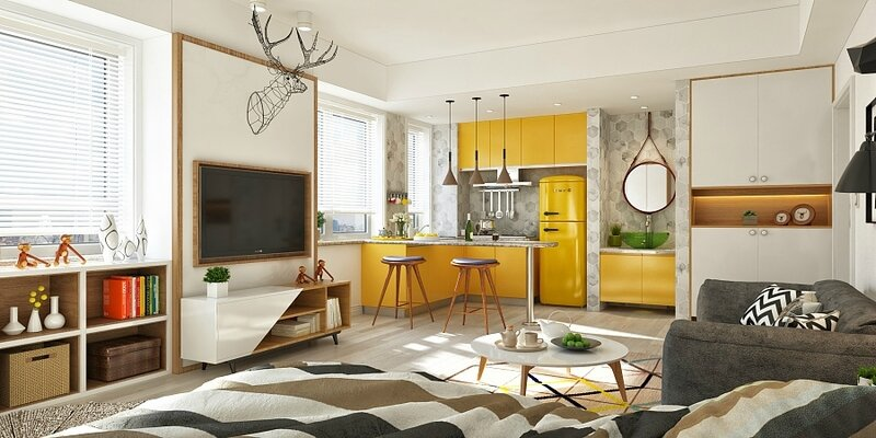 mustard-one-room-design-geometric-multi-colour-rug