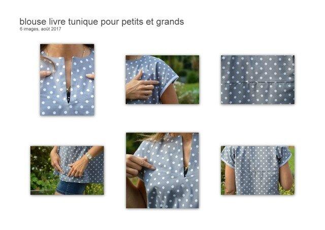 blouse livre tunique pour petits et grands