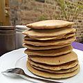 Pancakes salés à la farine de pois chiche et de riz (sans gluten, sans lactose)
