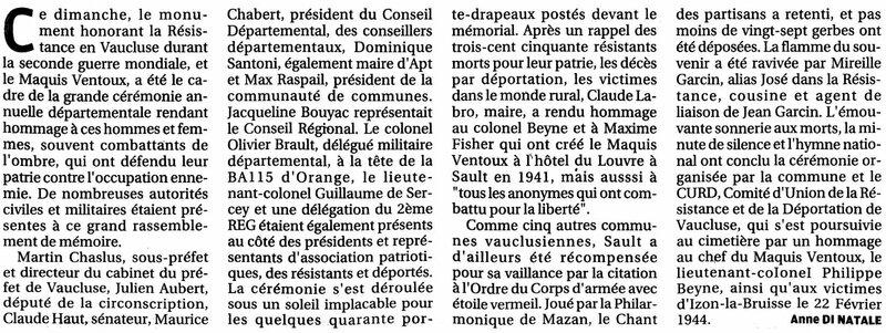 La Provence 29.08.2016