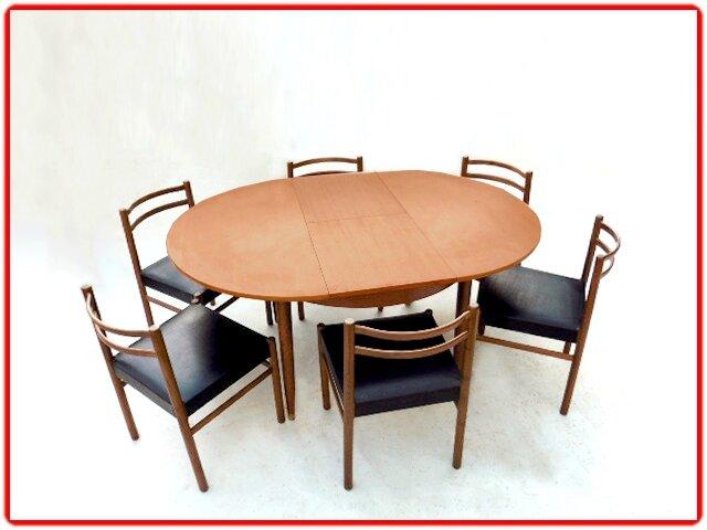 salle a manger en teck vintage scandinave 1960 vendu meubles d co vintage design scandinave. Black Bedroom Furniture Sets. Home Design Ideas