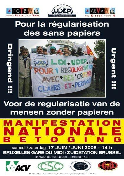 2006 Affiche Manif Nationale pour la regularisation des sans papiers