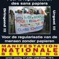 2006 Affiche Manif Nationale pour la regularisation des sans papiers