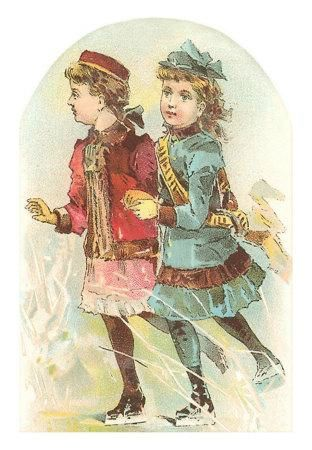 TC-00004-C%7ETwo-Victorian-Girls-Skating-Posters