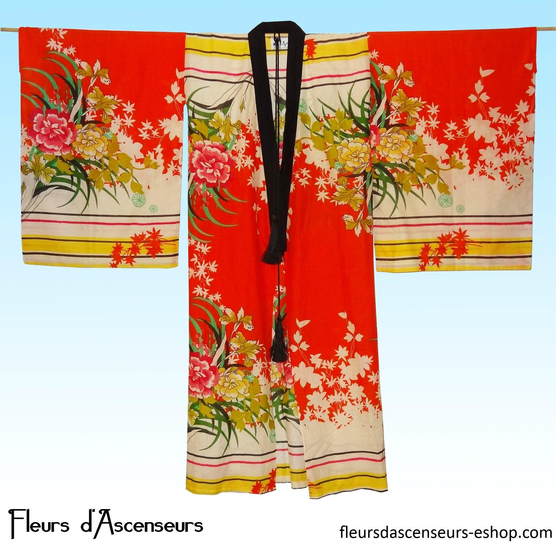 Gd Kimono JARDIN ROUGE devant