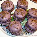 Petits macarons au vinaigre balsamique